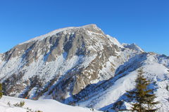 Alpen im Winter Stockbild