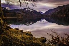 Alpen jezioro fotografia royalty free