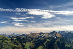 Alpen Landscape. Beautiful landscape photo of mountains in the Swiss Alps stock photography