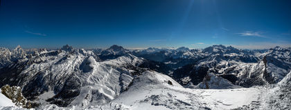 Alpen Mountain range in Italy Royalty Free Stock Photography