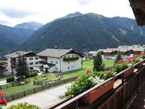 Alpen mountains, Austria - traditional mountains village Royalty Free Stock Photo