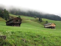 Alpen mountains, Austria - traditional mountains village Royalty Free Stock Image