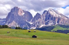 Alpen op de zomer, Dolomiet Stock Afbeelding