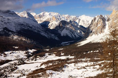 Alpen-Schnee-Berg Lizenzfreies Stockbild