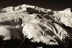 Alpen Schwarzweiss Lizenzfreie Stockfotos