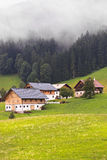 Alpen Silence. Wooden cottages in the Austrian Alps Royalty Free Stock Image