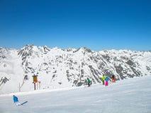 Alpen skidåkning Royaltyfri Fotografi