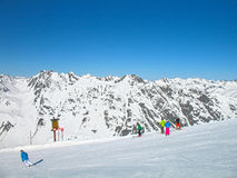 Alpen skiing Royalty Free Stock Photography