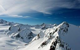 Alpen in Soelden Royalty-vrije Stock Afbeelding