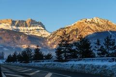 Alpen łuna blisko Chamonix de Mont Blanc Obrazy Royalty Free