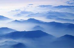 Alpen vom Flugzeug Lizenzfreies Stockbild