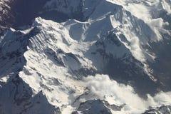 Alpen vom Himmel Stockfoto