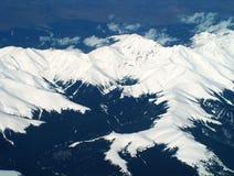 Alpen von der Ebene Stockfoto