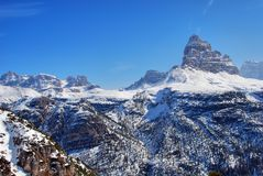 Alpen Winter, Dolomit, Italien, 2007 Stockfoto