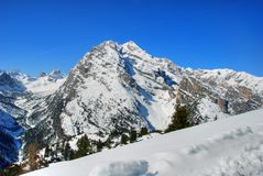 Alpen Winter, Dolomit, Italien, 2007 Lizenzfreie Stockfotografie