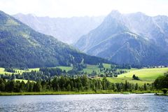Alpenansicht Stockfotografie
