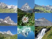 Alpenberge Lizenzfreies Stockfoto