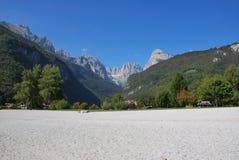 Alpenberge in Italien Stockbild
