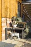 Alpendre das traseiras coberta acima para o inverno Fotografia de Stock