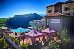 Alpenflora Hotel in Castelrotto Royalty Free Stock Photos