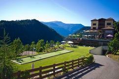 Alpenflora hotel w Castelrotto Zdjęcie Stock