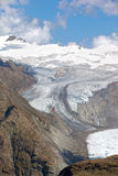 Alpengletscher, der in den Schweizer Alpen schmilzt Stockbild