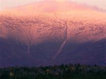 Alpenglow на держателе Вашингтоне, белом национальном лесе горы, Нью-Гэмпшир Стоковая Фотография