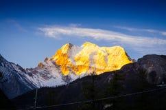 Alpenglow Photographie stock