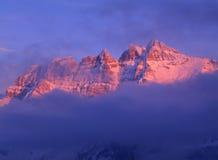 Alpenglow 免版税库存图片