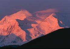 Alpenglow di alba del McKinley Fotografie Stock