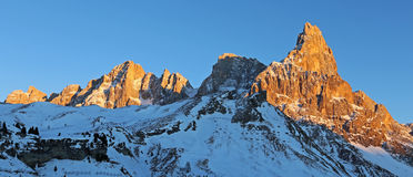 Alpenglow on the Dolomites Stock Image