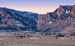 Alpenglow on Foothills of the Colorado Rockies Royalty Free Stock Photos