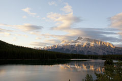 Alpenglow ny two jack lake Royalty Free Stock Photos