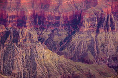 Alpenglow paints the cliffs Royalty Free Stock Photos