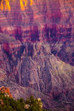 Alpenglow paints the cliffs Royalty Free Stock Photo