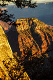 Alpenglow paints the cliffs and ridges Royalty Free Stock Photo
