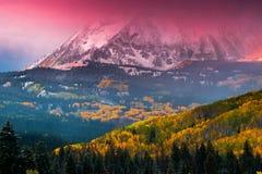 Alpenglow sopra Beckwith Fotografia Stock Libera da Diritti