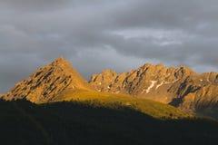 Alpenglow vicino a Nauders, Austria Immagine Stock Libera da Diritti