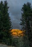 Alpenglow in Zell vede - l'Austria Immagine Stock Libera da Diritti