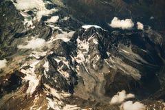 AlpenMountain View vom Himmel Lizenzfreies Stockbild