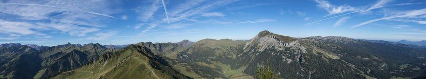 Alpenpanorama in Austria Immagini Stock