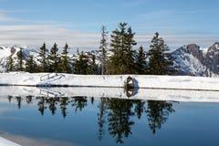 Alpenpanorama in Oesterreich Austria Hofgastein. Alpenpanorama in Oesterreich Hofgastein mit See Berge Austria Stock Image
