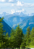 Alpensommeransicht stockfoto