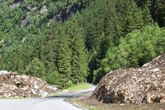 Alpenstrasse Zillergrund in Austria Fotografia Stock Libera da Diritti