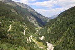 Alpenstrasse Zillergrund nel sud dell'Austria Immagine Stock Libera da Diritti