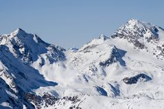 alpes滑雪冬天 库存照片