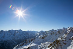 Alpes в Sölden Стоковое Изображение