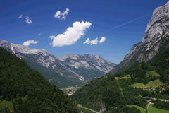 Alpes Foto de Stock Royalty Free