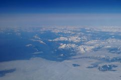 Alpes from above Royalty Free Stock Image