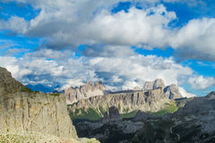 Alpes Alta Via 1 de dolomite Images libres de droits